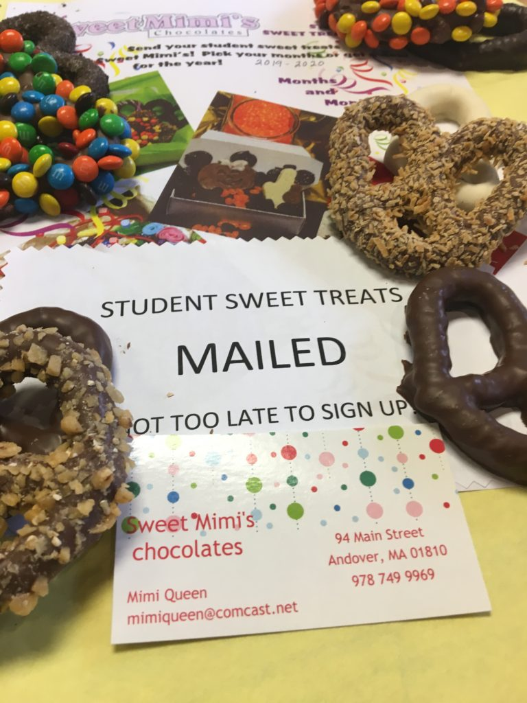 promotion for sending candy packages to students or friends