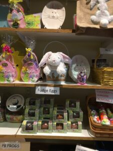 Easter stuff on shelves